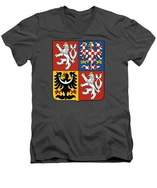 Czech Republic Coat Of Arms Men's V-Neck T-Shirt