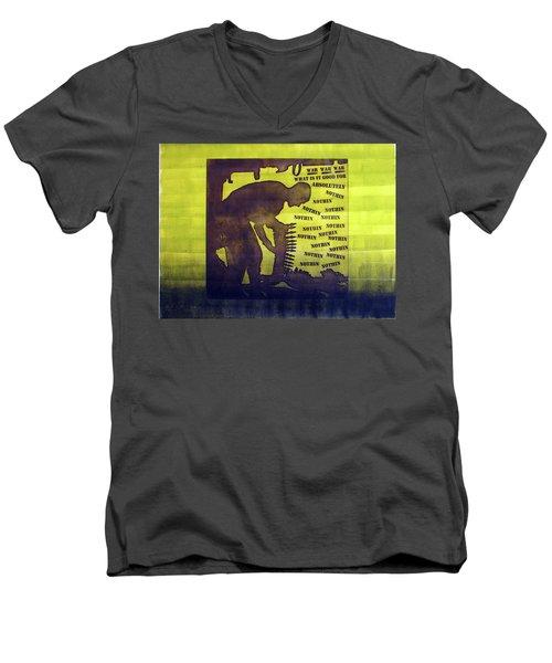 D U Rounds Project, Print 11 Men's V-Neck T-Shirt