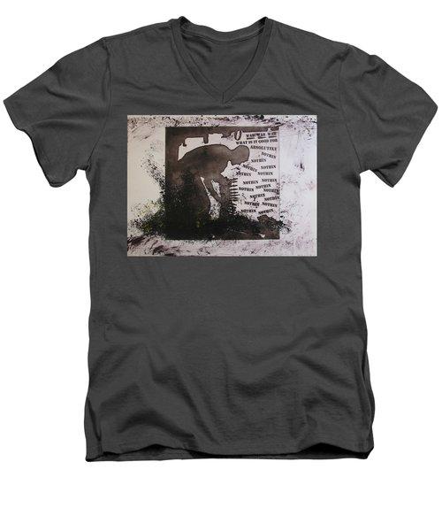 D U Rounds Project, Print 13 Men's V-Neck T-Shirt
