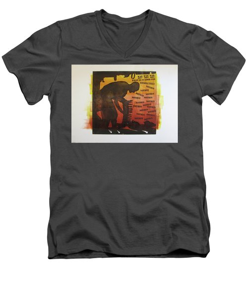 D U Rounds Project, Print 18 Men's V-Neck T-Shirt