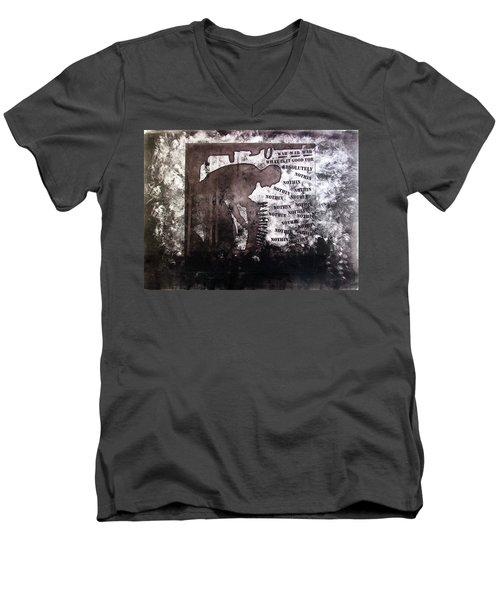D U Rounds Project, Print 28 Men's V-Neck T-Shirt