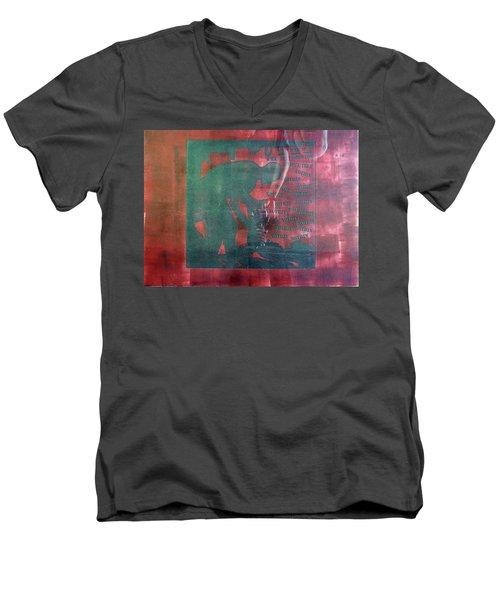 D U Rounds Project, Print 34 Men's V-Neck T-Shirt