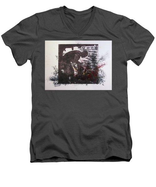 D U Rounds Project, Print 41 Men's V-Neck T-Shirt