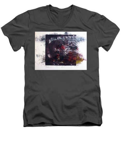D U Rounds Project, Print 7 Men's V-Neck T-Shirt