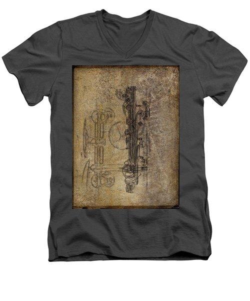 Dads Clarinet Men's V-Neck T-Shirt