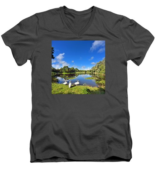 Dafen Pond Men's V-Neck T-Shirt