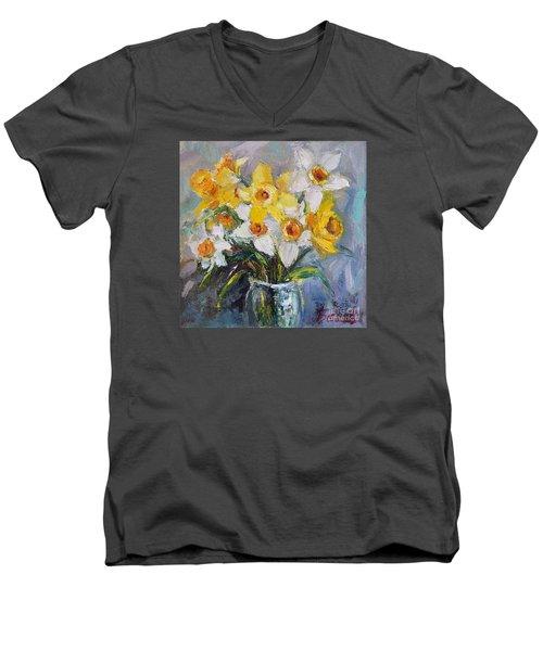 Daffodil In Spring  Men's V-Neck T-Shirt