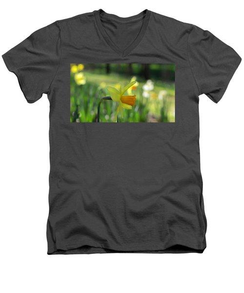 Daffodil Side Profile Men's V-Neck T-Shirt