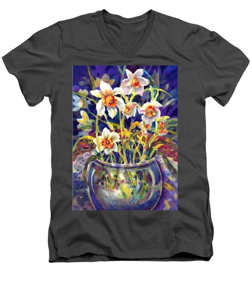 Daffodils And Lace Men's V-Neck T-Shirt