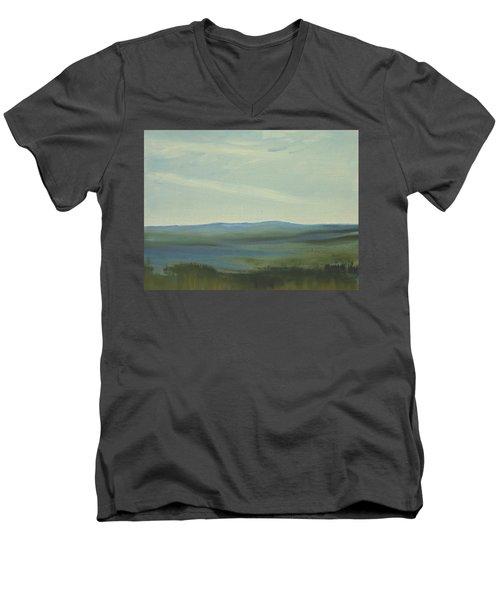 Dagrar Over Salenfjallen- Shifting Daylight Over Distant Horizon 6 Of 10 Men's V-Neck T-Shirt