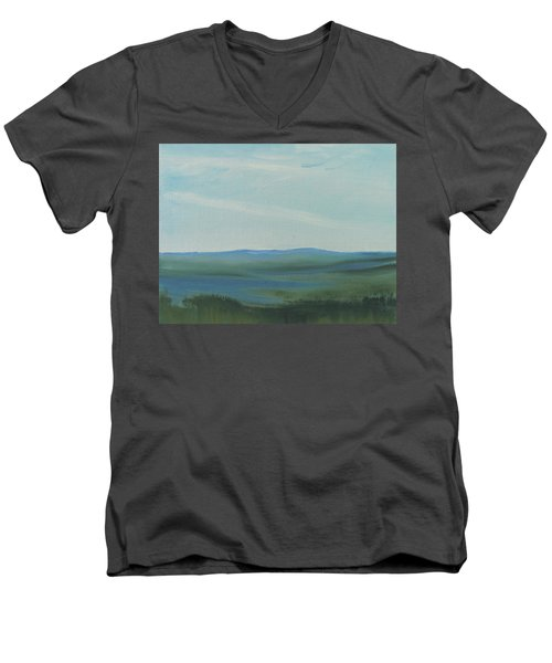 Dagrar Over Salenfjallen- Shifting Daylight Over Distant Horizon 6a Of 10_0027 50x40 Cm Men's V-Neck T-Shirt
