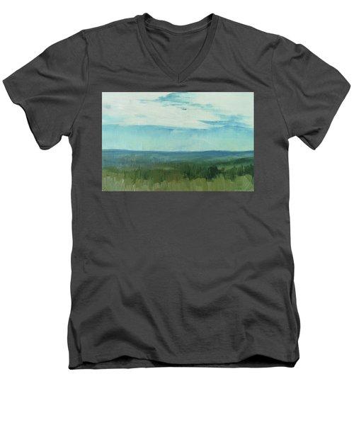 Dagrar Over Salenfjallen- Shifting Daylight Over Distant Horizon 7 Of 10_0029 Men's V-Neck T-Shirt