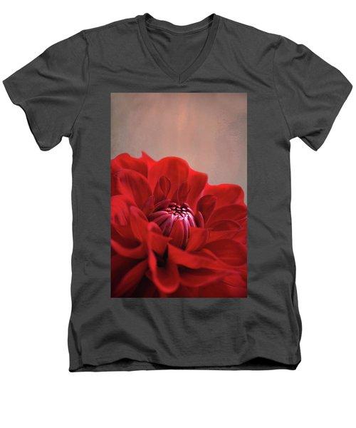 Dahlia Dalliance  Men's V-Neck T-Shirt by Marion Cullen