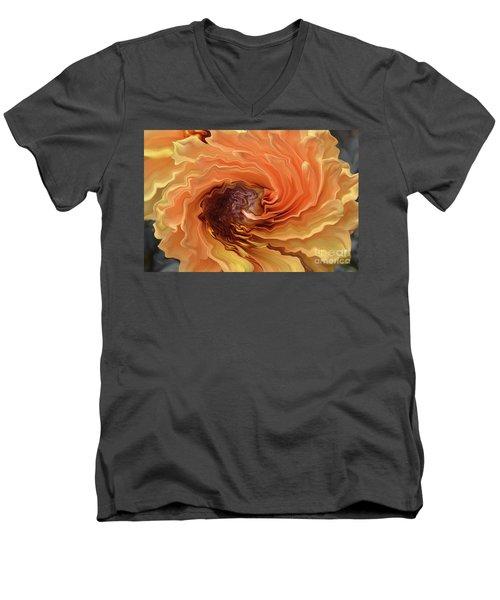 Dahlia Men's V-Neck T-Shirt by Debby Pueschel