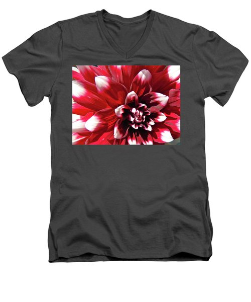 Men's V-Neck T-Shirt featuring the photograph Dahlia Defined by Randy Rosenberger