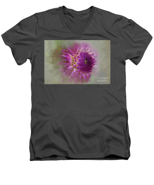 Dahlia Dream Men's V-Neck T-Shirt