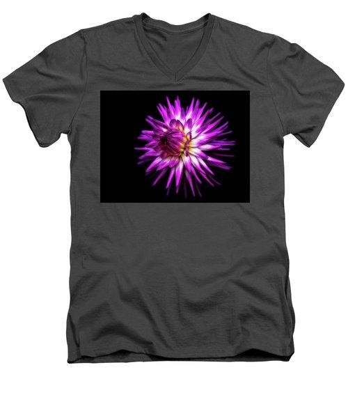 Dahlia Starburst Men's V-Neck T-Shirt