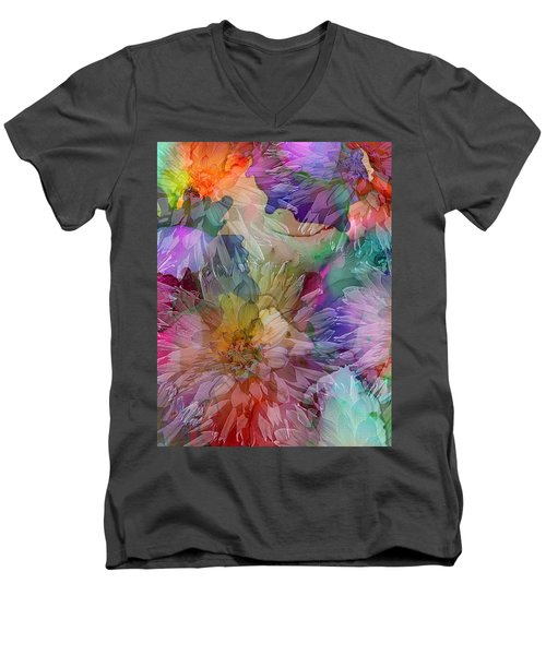 Dahlias Men's V-Neck T-Shirt
