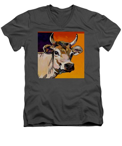 Daisy Men's V-Neck T-Shirt by Bob Coonts