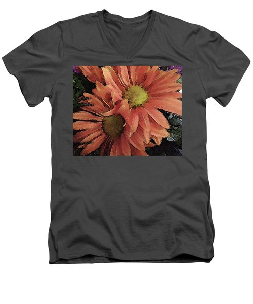 Daisy Bouquet Men's V-Neck T-Shirt by Donna G Smith