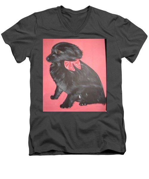 Daisy Scared Little Dog Men's V-Neck T-Shirt
