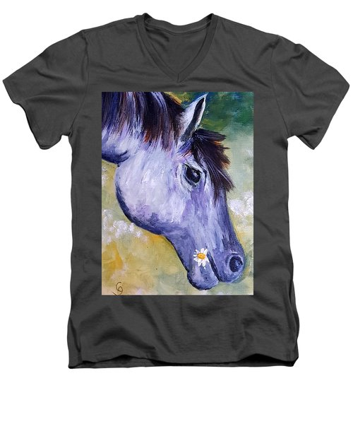 Daisy The Old Mare     52 Men's V-Neck T-Shirt