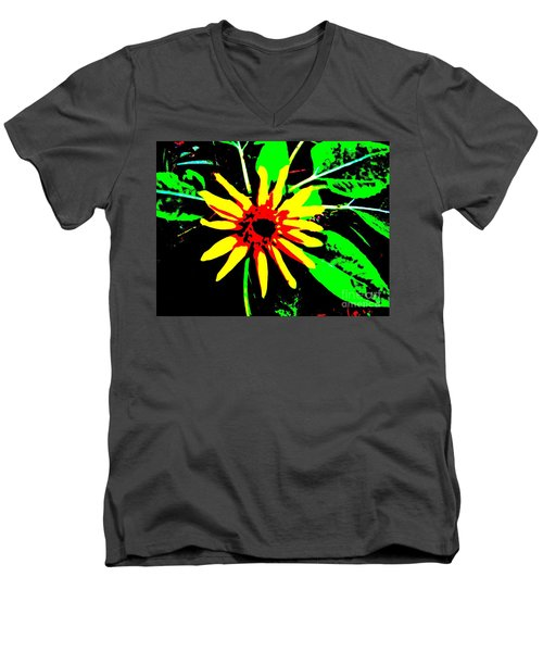 Daisy Men's V-Neck T-Shirt by Tim Townsend