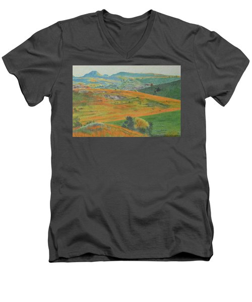 Dakota Prairie Dream Men's V-Neck T-Shirt