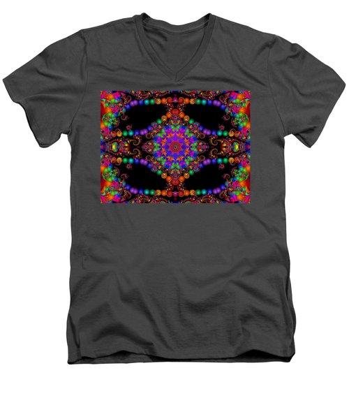 Men's V-Neck T-Shirt featuring the digital art Dakota by Robert Orinski