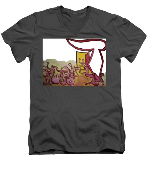 Dalet An Open Door Ab16 Men's V-Neck T-Shirt