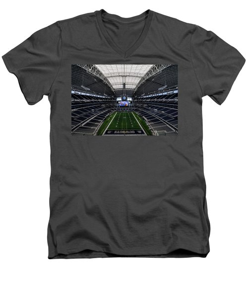 Dallas Cowboys Stadium End Zone Men's V-Neck T-Shirt by Jonathan Davison
