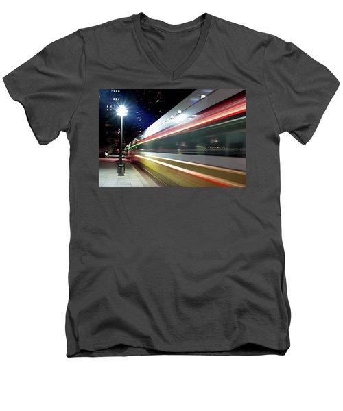 Dallas Dart Train 012518 Men's V-Neck T-Shirt