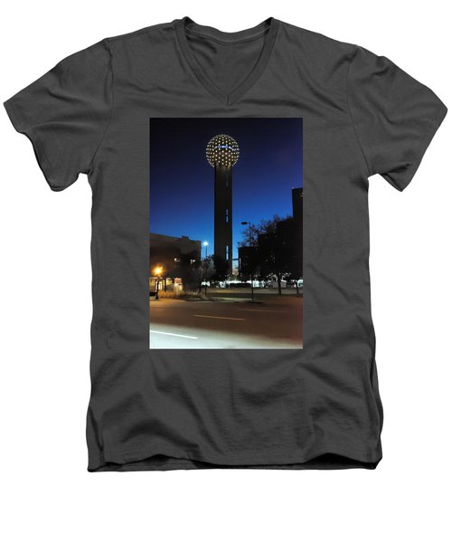 Dallas Reunion Tower Men's V-Neck T-Shirt