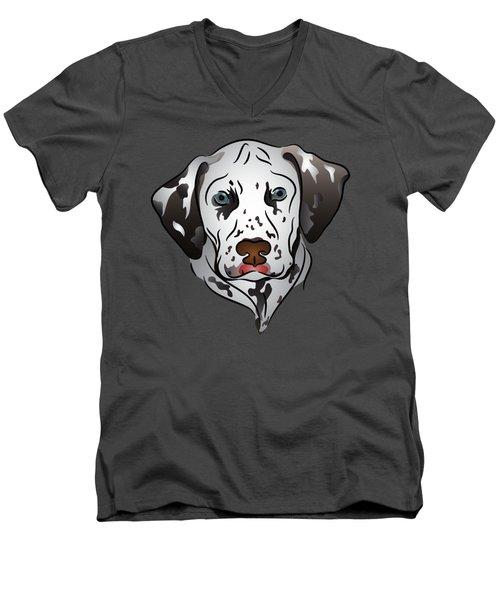 Dalmatian Portrait Men's V-Neck T-Shirt