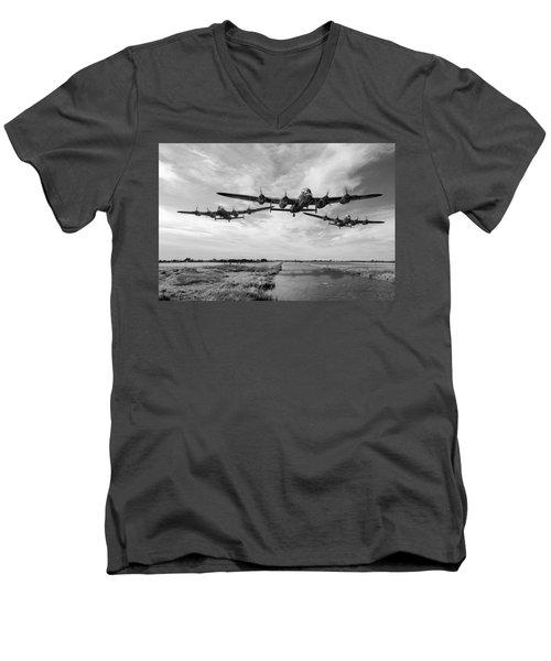 Dambusters Practising Low Level Flying Bw Version Men's V-Neck T-Shirt