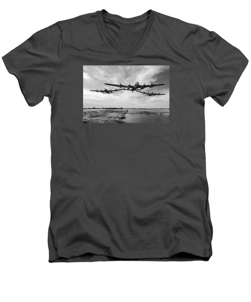 Dambusters Practising Low Level Flying Bw Version Men's V-Neck T-Shirt
