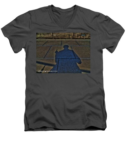 Damn Shadow Figure Men's V-Neck T-Shirt