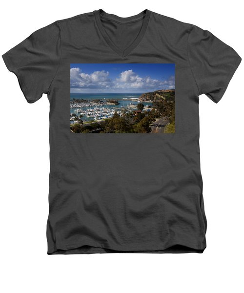 Dana Point Harbor California Men's V-Neck T-Shirt