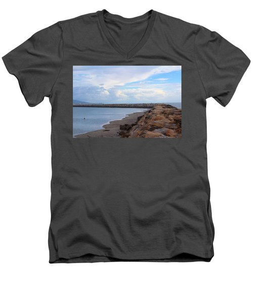 Men's V-Neck T-Shirt featuring the photograph Dana Point  by Viktor Savchenko