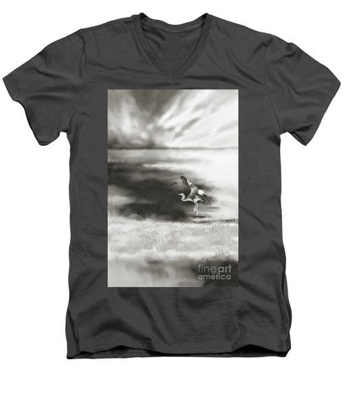 Men's V-Neck T-Shirt featuring the digital art Dance Like Nobody's Watching by Lois Bryan