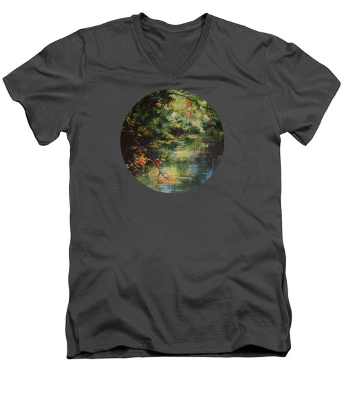 Dance Of Color And Light Men's V-Neck T-Shirt by Mary Wolf