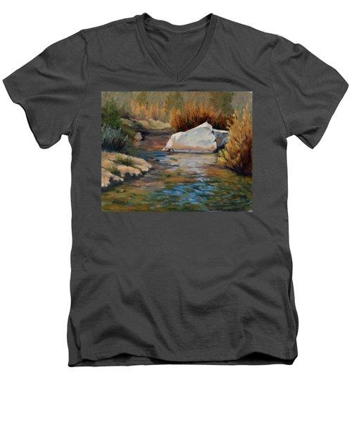 Dance Of Light On Bishop Creek Men's V-Neck T-Shirt