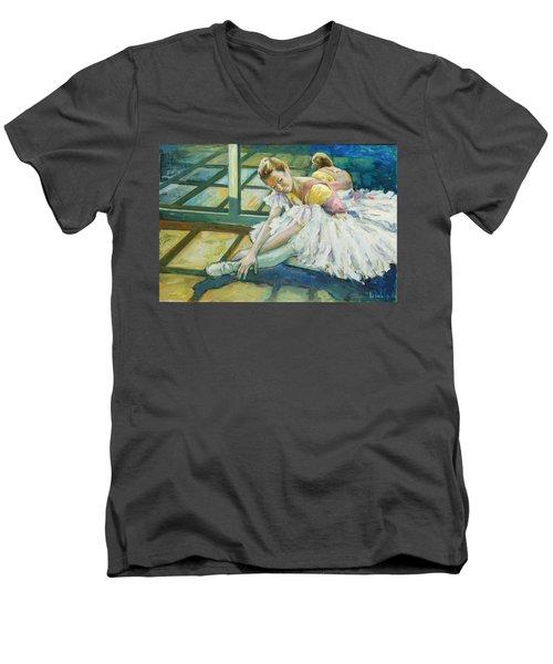 Dancer Men's V-Neck T-Shirt by Rick Nederlof