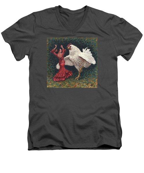 Dancers El Gallo Men's V-Neck T-Shirt
