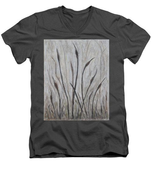 Dancing Cattails 3 Men's V-Neck T-Shirt by Trish Toro