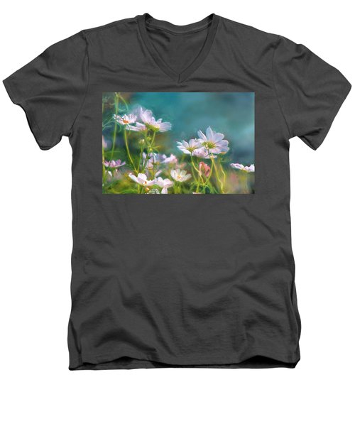 Dancing Cosmos Men's V-Neck T-Shirt