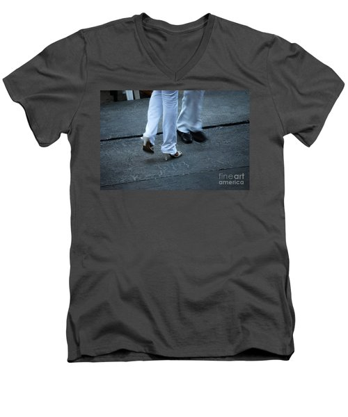 Dancing Feet At The Dominican Republic Son Party Number One Men's V-Neck T-Shirt by Heather Kirk