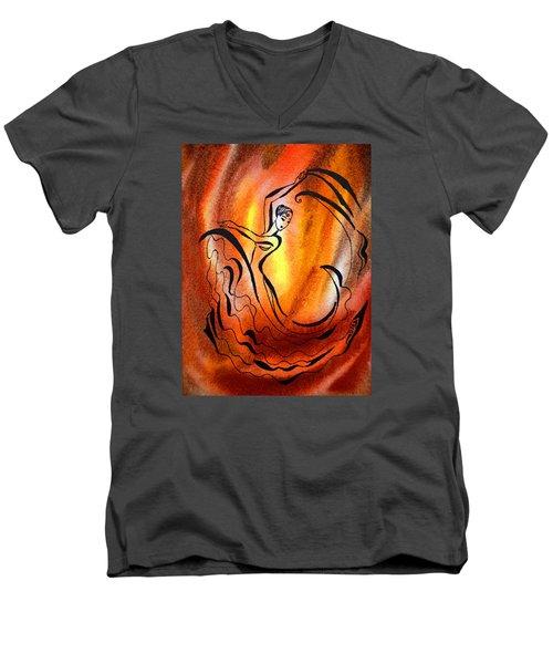 Dancing Fire I Men's V-Neck T-Shirt