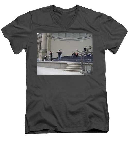 Dancing In Golden Gate Park Men's V-Neck T-Shirt