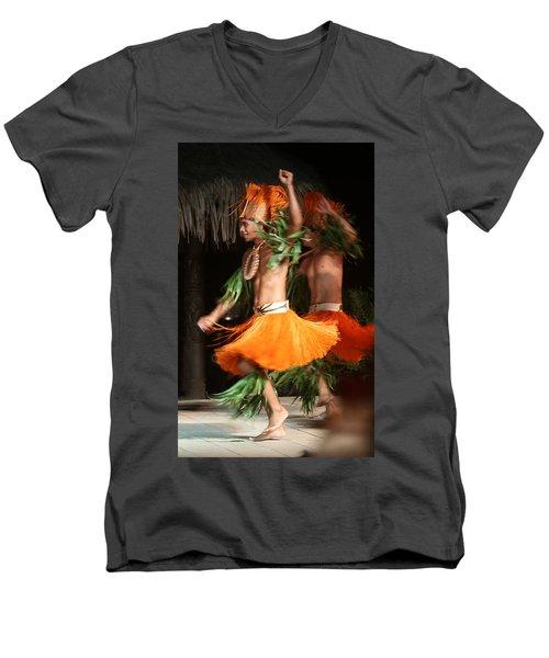 Dancing In Tahiti Men's V-Neck T-Shirt